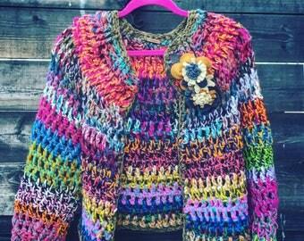 Boho style handmade gypsy sweater