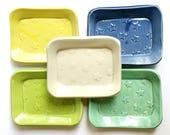 CERAMIC SOAP DISH / Soap holder, Pottery Soap Dish, Handmade Soap Dish, Clay Soap Dish, Colorful Soap Dish, Bathroom Decor,