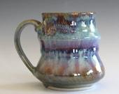 Coffee Mug Pottery, 12 oz, unique coffee mug, ceramic cup, handthrown mug, stoneware mug, wheel thrown pottery mug, ceramics and pottery