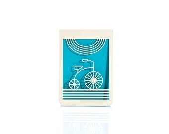 Bike // Laser Cut Card