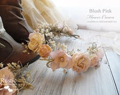 Blush Pink Flower Crown ~ Bridal Flower Crown ~ Bride, Bridesmaid, Flower Girl ~ Available in Child and Adult Size