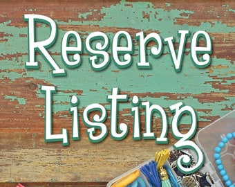 Reserve Listing for Maria