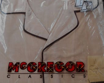McGregor Classics - Perma-Press - Broadcloth PJs (Size M) - Short Sleeve - Knee Length - Vintage - Brand New!