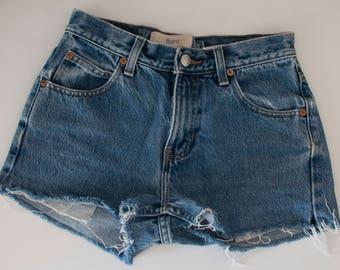 denim jean cut offs size 1, vintage gap