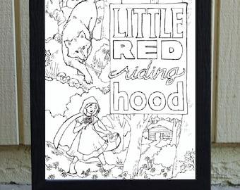 DIGITAL FILE- Little Red Riding Hood