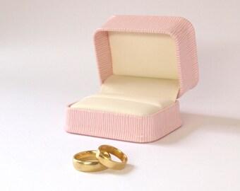 Pink Ring Box Wedding, Ring Gift Box, Cufflink Box, Pink Jewellery Box, Cufflink Gift Box, Double Ring Box, Wedding Ring Holder PC713