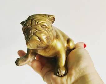 Vintage Solid Brass Bulldog