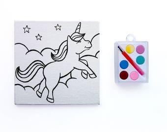 Unicorn Canvas Paint Set - Paint Your Own Unicorn
