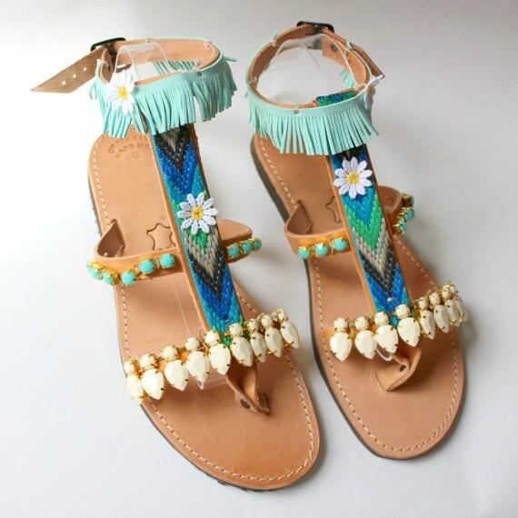 SALE!Boho sandals, gypsy sandals, leather sandals Gladiators, greek sandals  sandales grecques gladiateurs 3 colours