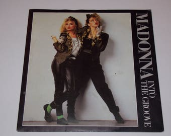 "1984 - Madonna - Into The Groove - 7"" Single Vinyl Record - 80's Classic Pop / Desperately Seeking Susan / Soundtrack"