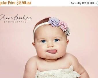 12% off Baby headband, newborn headband, adult headband, child headband and photography prop The triple sprinkled Rhinestone sparkle flower