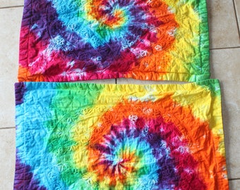 Tie Dye Standard Size Decorative Pillow Sham | Set of Two upcycled