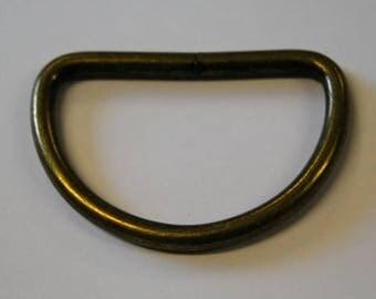 D Rings 50mm - Antique Brass
