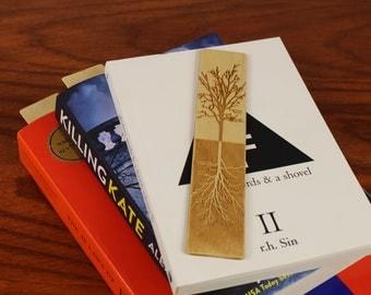 Tree of Life Bookmark,  Wooden Bookmark,  Russian Birch, Laser engraved, Paul Szewc