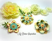 Graphic 45 Once Upon a Spring Time Handmade Paper Embellishments, Paper Flowers for Scrapbooking Cards Mini Albums Tags and  Paper Crafts