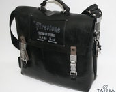 Upcycled rubber industrial shoulderbag