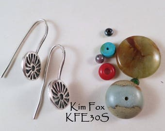 Gift of Love Flower Earring in Sterling Silver light and comfortable - noticeable but not overbearing