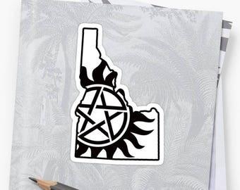 Vinyl Sticker - Idaho Supernatural State