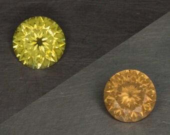 Wandanyi Color Change Garnet Natural Untreated Phenomenal Green to Amber Round Brilliant Cut Loose Gemstone