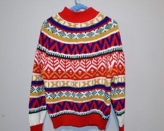 Vintage Sweater Nordic Retro Bright