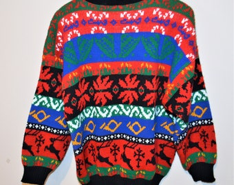 Christmas in The 80's Rock Star Sweater