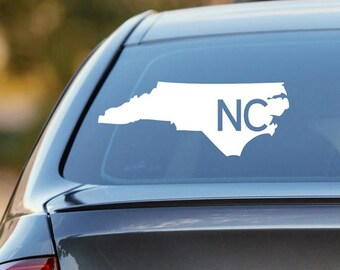 North Carolina Car Decal, State Decal, North Carolina Decal, Laptop Sticker, Laptop Decal, Car Sticker, Vinyl Decal, NC, Window Sticker