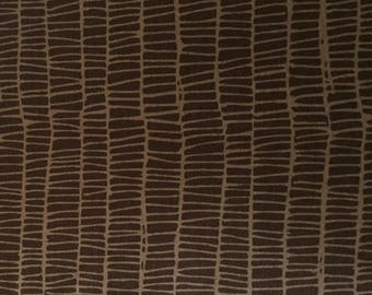 Weave in Chocolate, Merrily Collection by Gingerber for Moda Fabrics, 1/2 yard