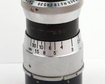 Vintage Schneider Kreuznach 75mm f3.8 Tele-Xenar C mount #1834539 Lens -Fits Leica IIIf  Camera