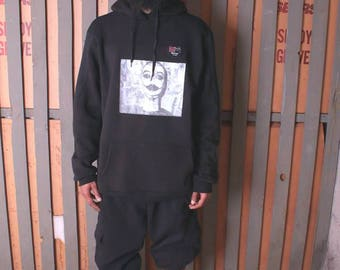 Rebel graphic Fleece hoody