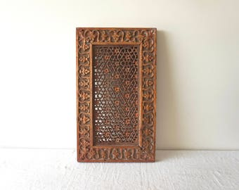 Woooden Panel Jali Screen India Wall Hanging