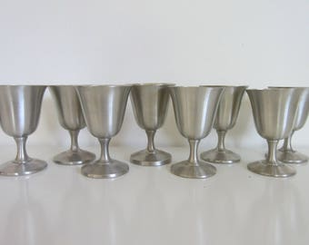 wallace pewter wine goblets pewter wine glasses