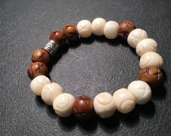 Boys Bone & Wood Bracelet