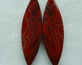 Reserve for sue!!!New,Multi-Color Picasso Jasper Earring Bead,46x14x5mm,9.3g,-E8969