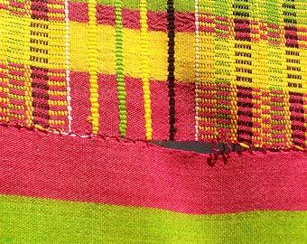 Kente Cloth Handwoven Ghana Textile 10X7 Ft African Art 66586