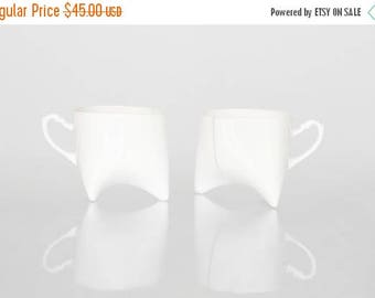 SALE Ceramic cups set - white porcelain mugs, contemporary ceramic cups handmade coffee cup or tea cup by Endesign