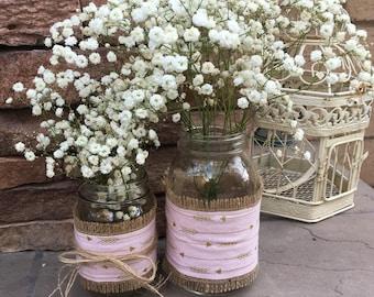 Mason Jar Wrap, Pink, Arrows, Tribal, Boho Chic, Mason Jar Decoration, Baby Shower, Party, Wedding Decoration