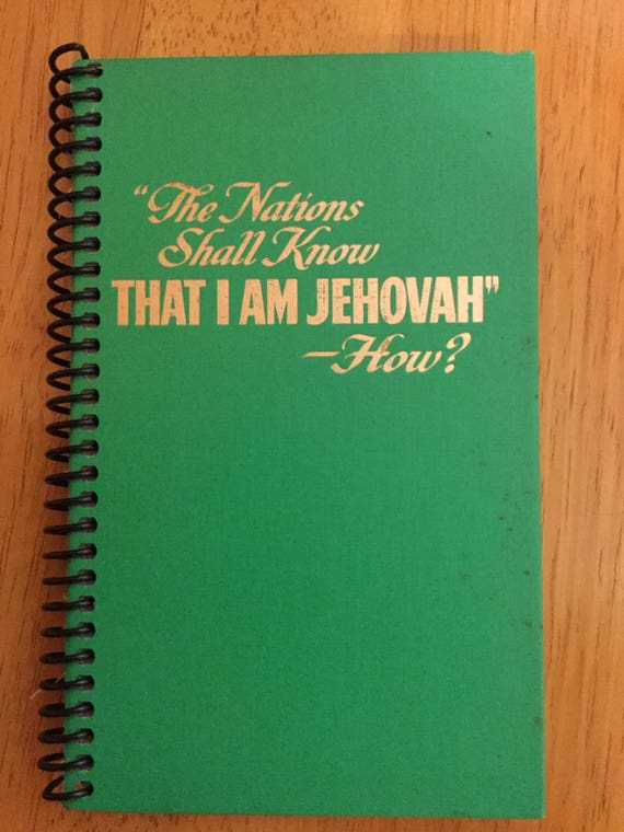 Jehovahs witness convention notebooks