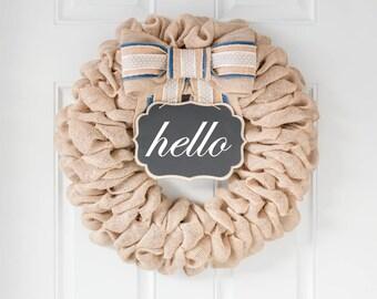 BEST SELLER! Spring Wreaths for Front Door, Front Door Wreaths, Easter Wreath Burlap Farmhouse Wreath, Home