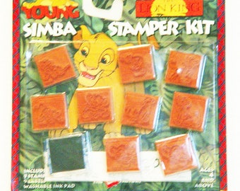 Lion King Rubber Stamp Set-New in Package-Simba-Rubber Stamp Factory