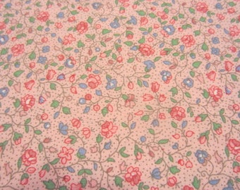 Floral Print, Tiny flowers on a Pink background