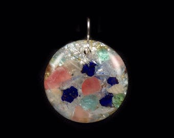 Orgone Positive Energy Generator Pendant with multiple stones (see list in description) (e16)