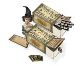 Printable Fortune Teller Matchbox template and clip art to create Halloween decor party decor scrapbook items, or just fun fortunes