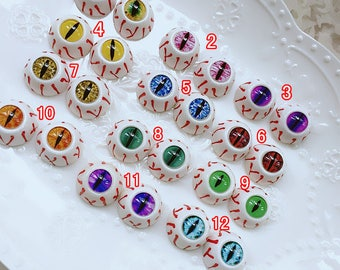 10pcs 5pairs high quality glass eyes / eyeball cameo / doll eyes / animals eyes / doll making X-N