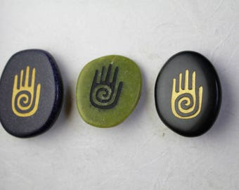 3 Buttons Pictograph Spiral Hand