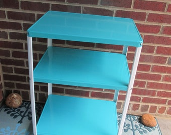 Vintage Metal Cart - Rolling Cart - Serving Cart