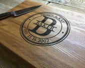 Personalized Chopping Block, Edge Grain 12x15 - Personalized Wedding Gift, Housewarming Gift, Anniversary Gift