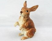"Lefton Brown Bunny Figurine- 4.5"" tall - H6864 - 1960s"
