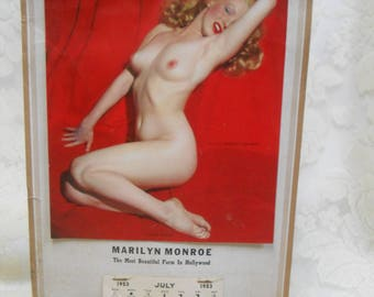 1953 Golden Dream Marilyn Monroe Nude Photo Calendar--The Most Beautiful Form in Hollywood
