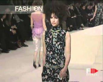 1997 Chanel Spring Cheongsam Floral Dress Sz 36