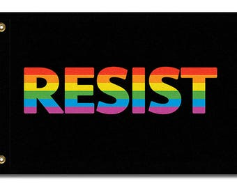 LGBTQ RESIST Flag, 3x2 or 5x3
